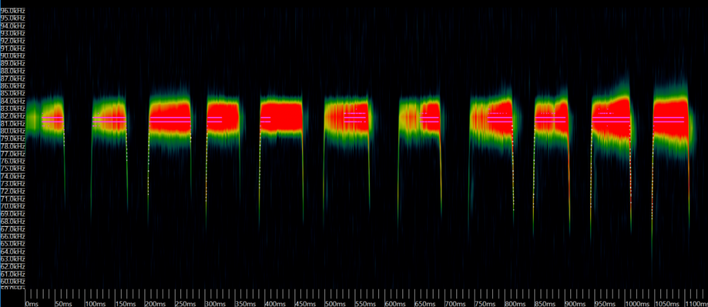 Greater horseshoe bat sonogram